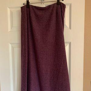 Ankle length heathered purple skirt